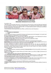 Rapport d'activité 2014-2015