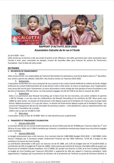 Image Rapport activités 2020